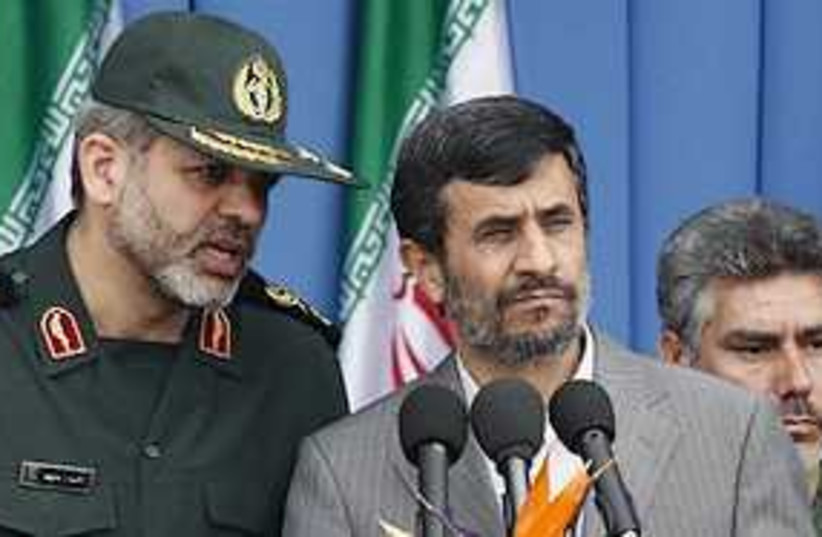 ahmadinejad parade 311 (photo credit: AP)