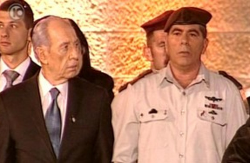 Peres and Ashkenazy Independence Day 311 (photo credit: Channel 10)
