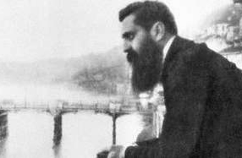 Theodor Herzl leaning 311 (photo credit: E.M. Lilien)