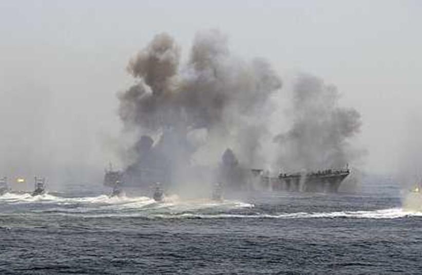Iran War Games (photo credit: ASSOCIATED PRESS)