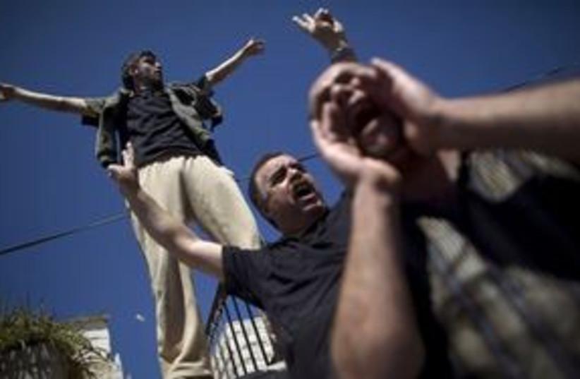 silwan protest arabs 311 (photo credit: AP)