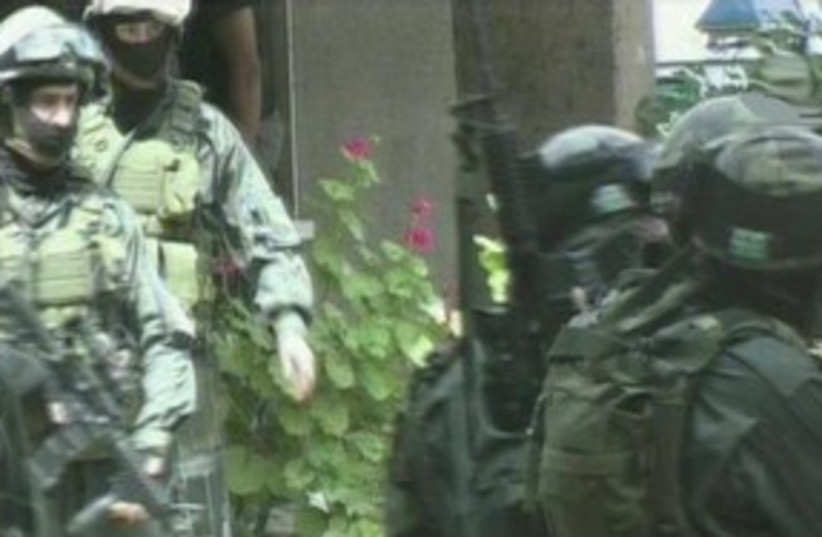 SWAT team 311 (photo credit: Channel 2)
