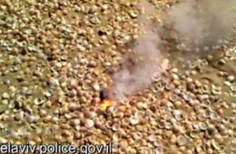 Bat Yam Meteorite 311 (photo credit: AP)