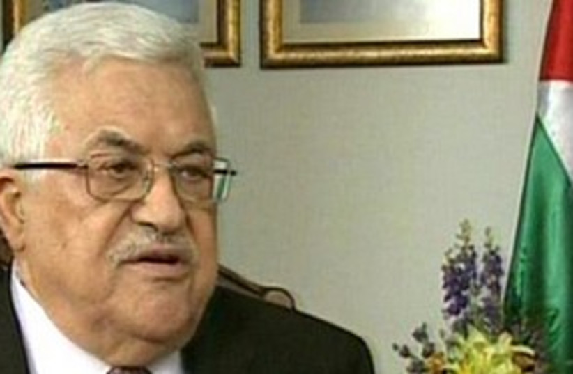 Abbas speaks to Channel 2 311  (photo credit: Channel 2)