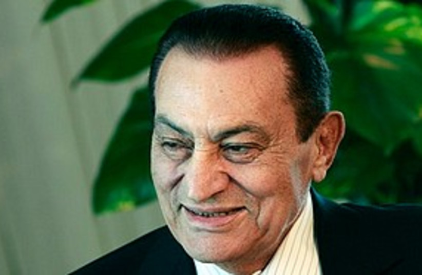 Mubarak looks green 311 (photo credit: ASSOCIATED PRESS)