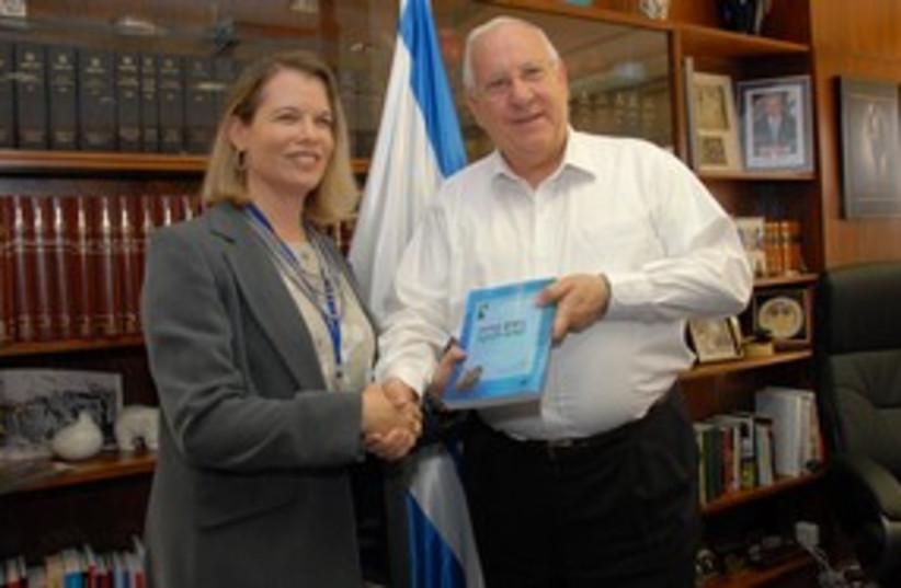 rivlin woman book 311 (photo credit: Knesset Speaker's Office)
