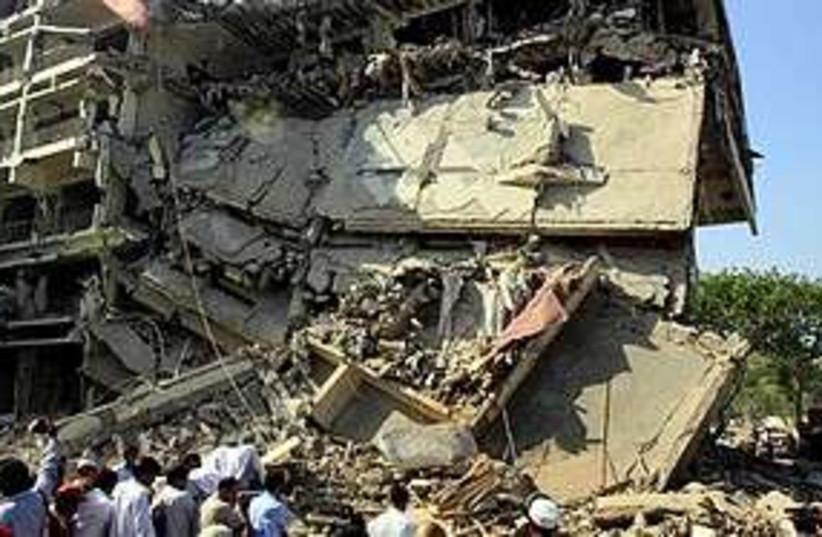 Pakistan bomb rubble  311 (photo credit: Associated Press)
