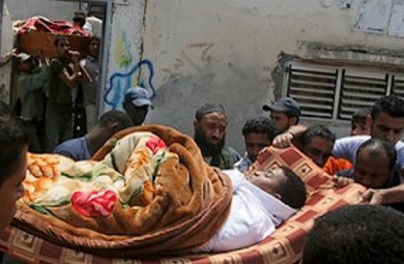 dead Gaza smugglers 311 (photo credit: Associated Press)