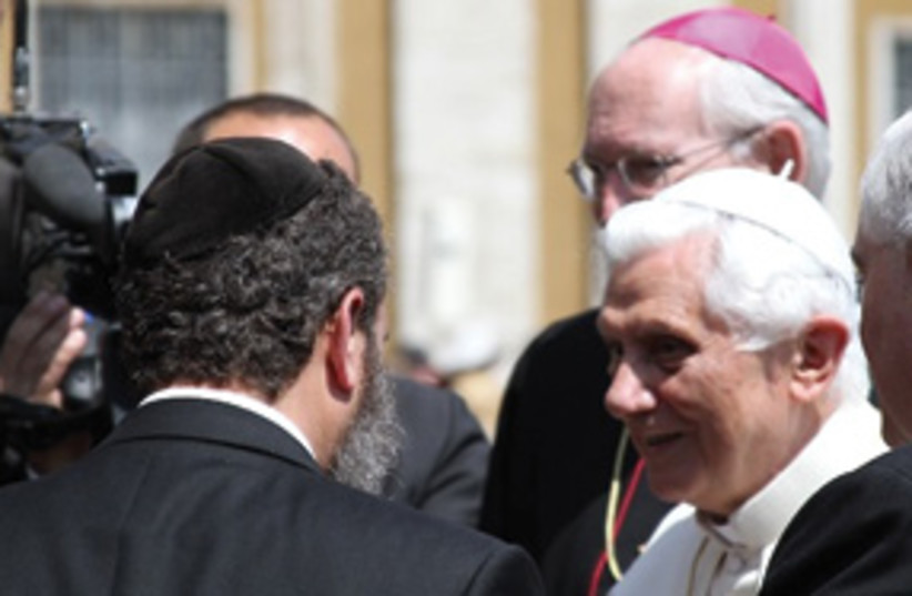 shmuley boteach with pope 311 (photo credit: Courtesy)