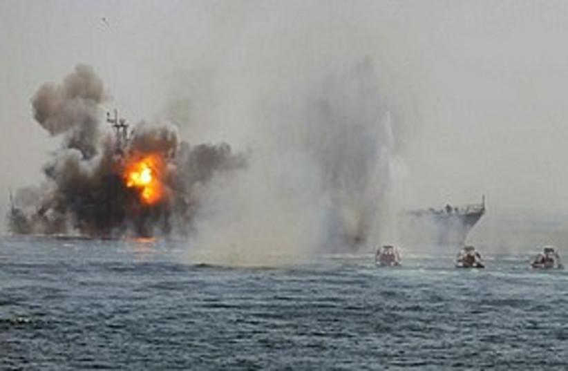 Iranian drill fire 311 (photo credit: ASSOCIATED PRESS)