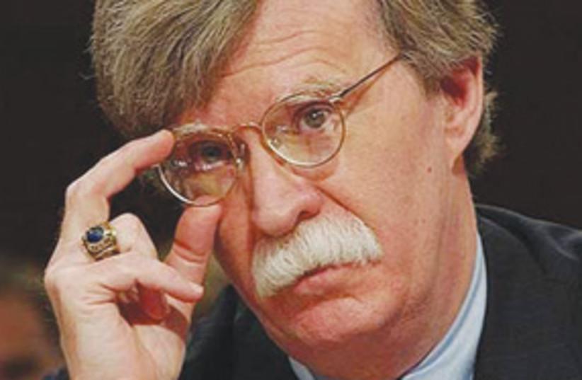 John Bolton glasses 311 (photo credit: AP)