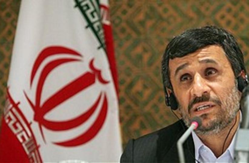 Ahmadinejad at NPT 311 (photo credit: AP)