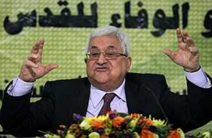 abbas angry 311 (photo credit: AP)