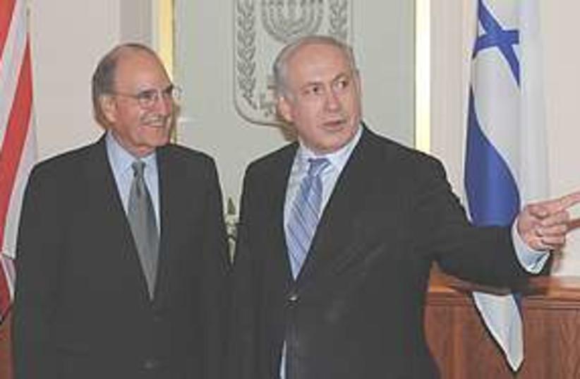 Netanyahu meets Mitchell 311 (photo credit: ASSOCIATED PRESS)