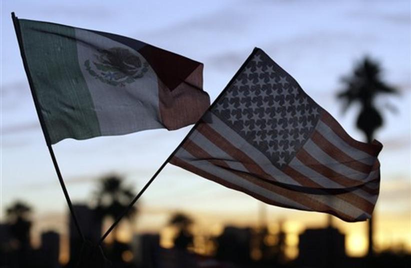 US immigration protestors (photo credit: AP)