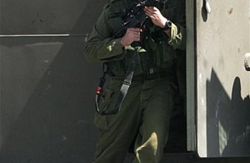 IDF soldier nablus 298 (photo credit: AP)