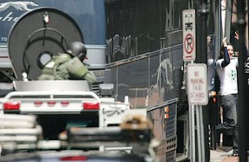 NH bomb scare 311 (photo credit: Associated Press )