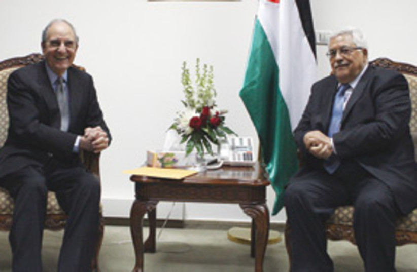 Abbas and Mitchell 311 (photo credit: AP)