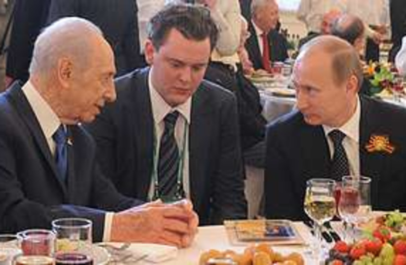 Peres Putin 311 (photo credit: Government Press Office)