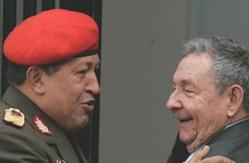 Chavez raul Castro 311 (photo credit: Associated Press)