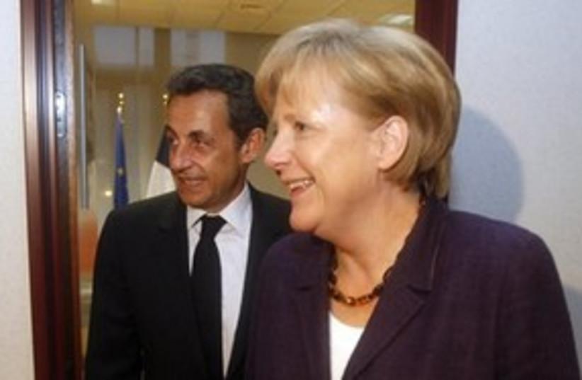 Merkel At Meeting (photo credit: AP)