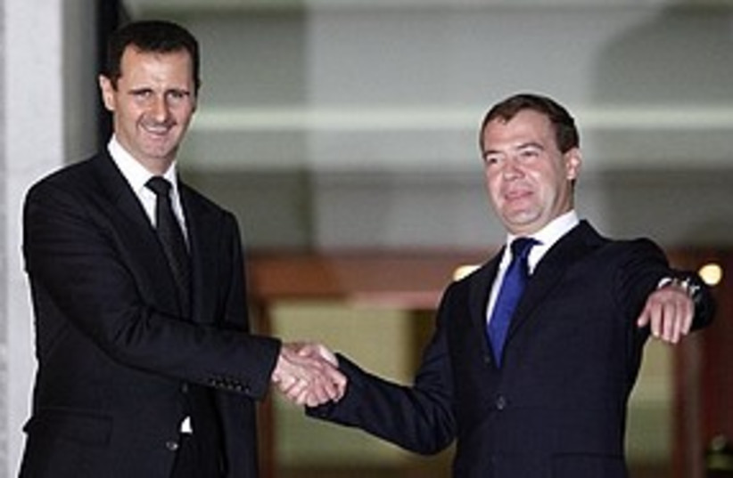 Assad Medvedev 311 (photo credit: AP)