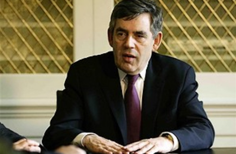 gordon brown 298.88 ap (photo credit: AP)