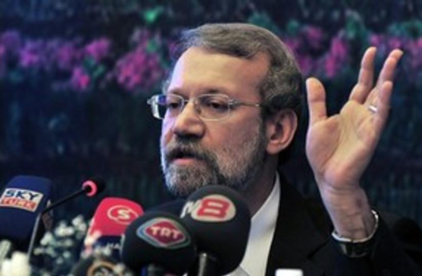 Ali Larijani, Speaker of Iran's parliament (photo credit: AP)