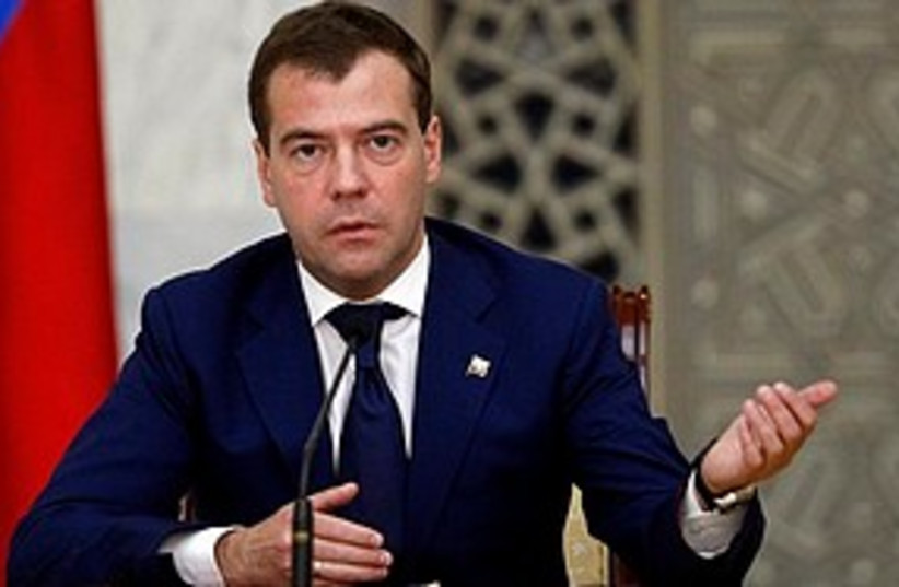 Medvedev angry 311  (photo credit: Associated Press)