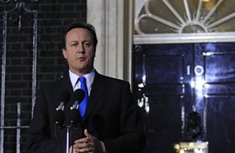 Cameron new PM (photo credit: ASSOCIATED PRESS)