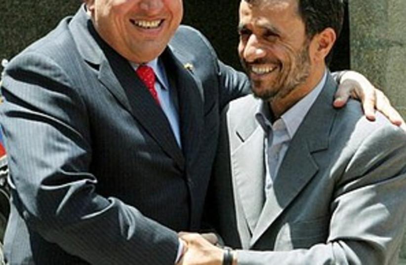 chavez ahmadinejad 298.8 (photo credit: AP)