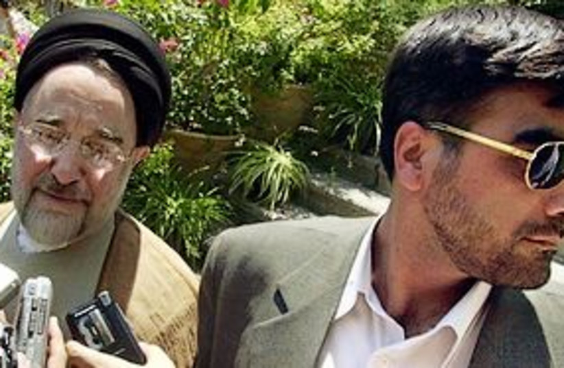 khatami speaking to media 311 (photo credit: AP)
