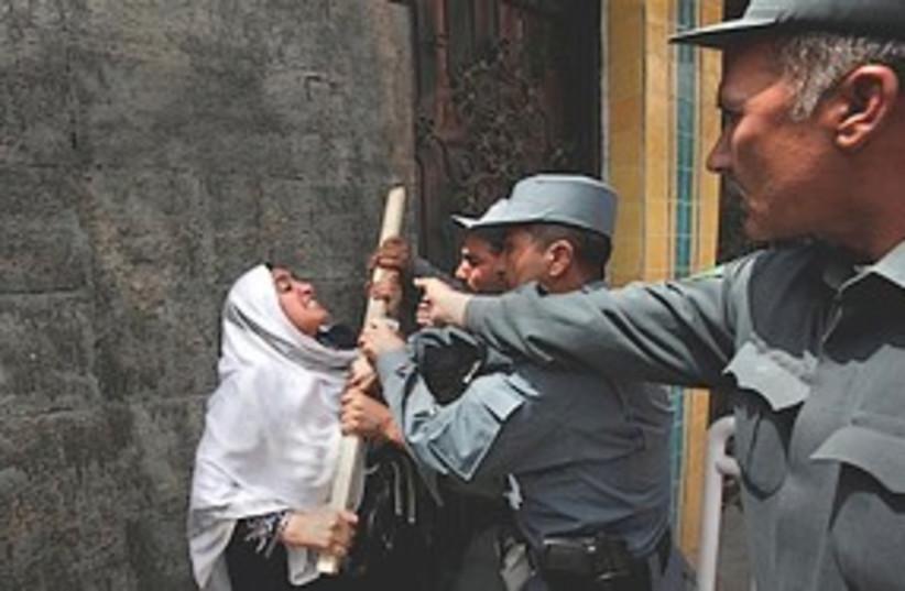 NIran embassy protest (photo credit: NAssociated Press)