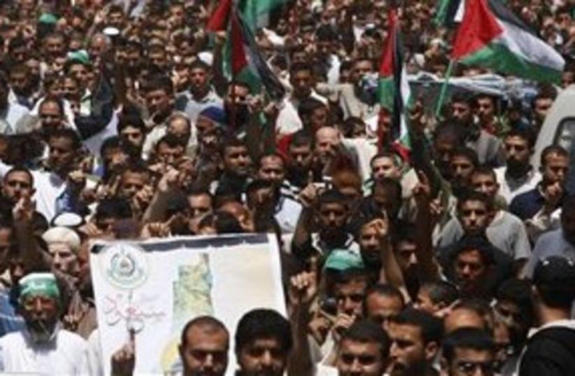 Palestinian Nakba rally (photo credit: ASSOCIATED PRESS)