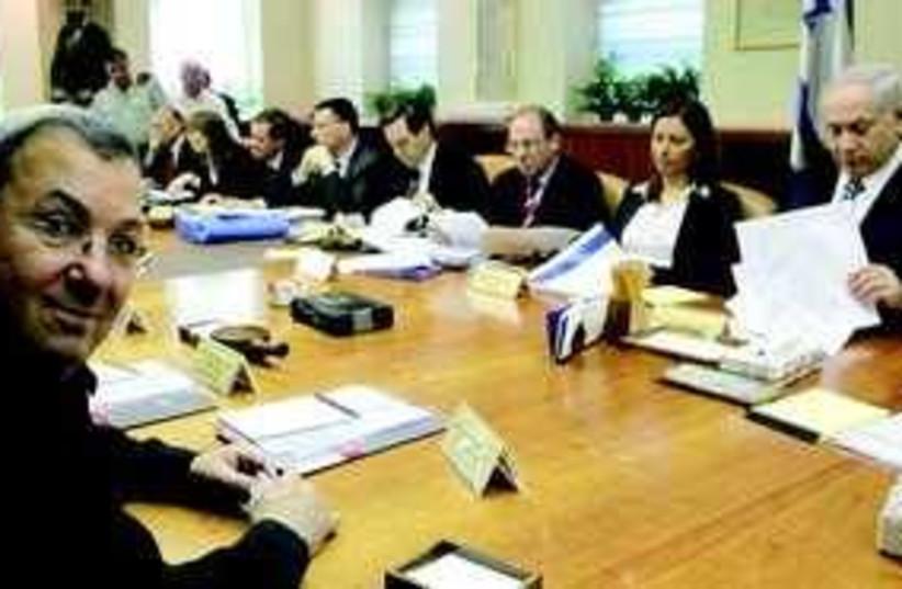 cabinet meeting barak 311 (photo credit: Courtesy)