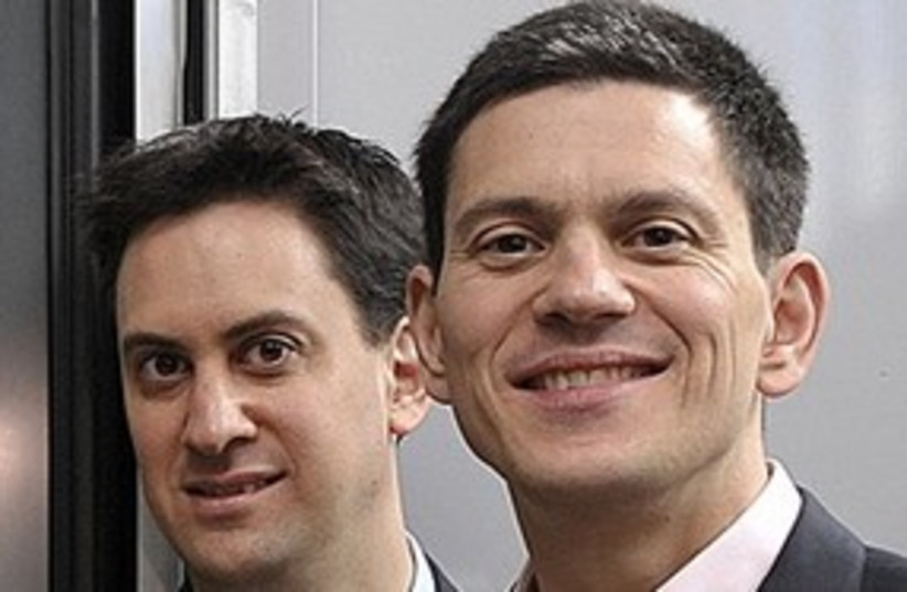 Miliband brothers 311 (photo credit: ASSOCIATED PRESS)
