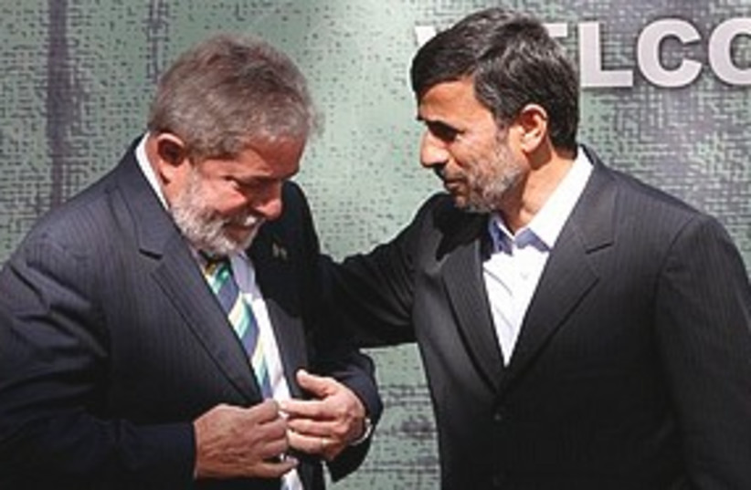 Da Silva meets Ahmadinejad 311 (photo credit: Associated Press)