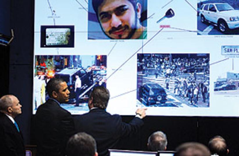 ObamaInShahzadTerrorBriefing311 (photo credit: Associated Press)