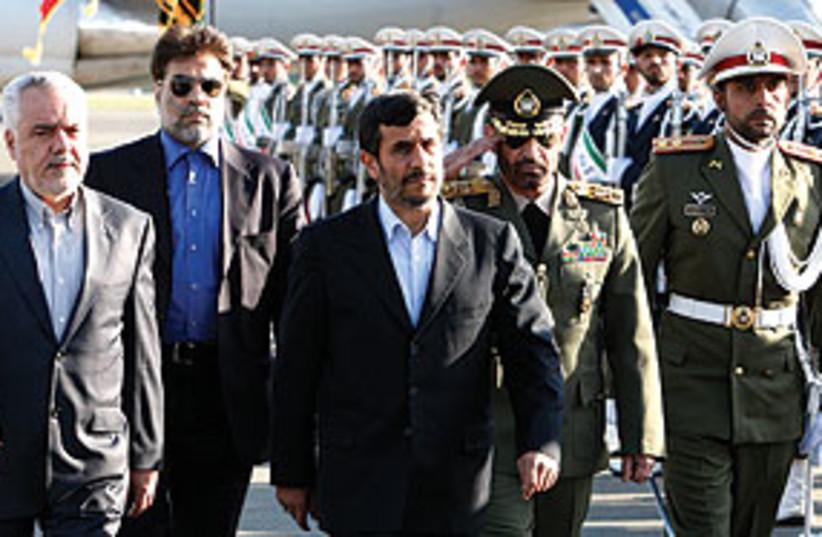 AhmadinejadTeheranAirport311 (photo credit: Associated Press)