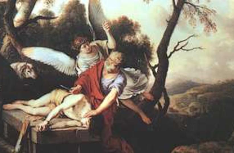 Abraham sacrificing Isaac  311 (photo credit: Laurent de La Hyre)