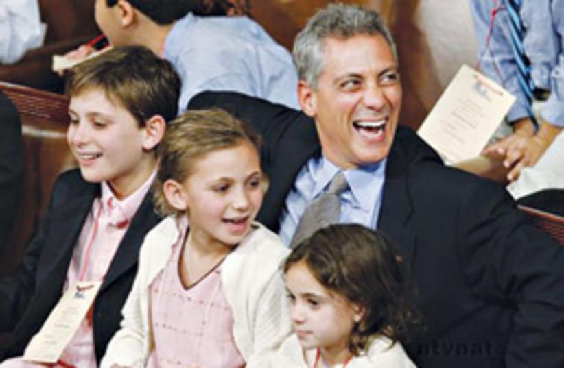 Rahm Emanuel & kids 311 (photo credit: .)