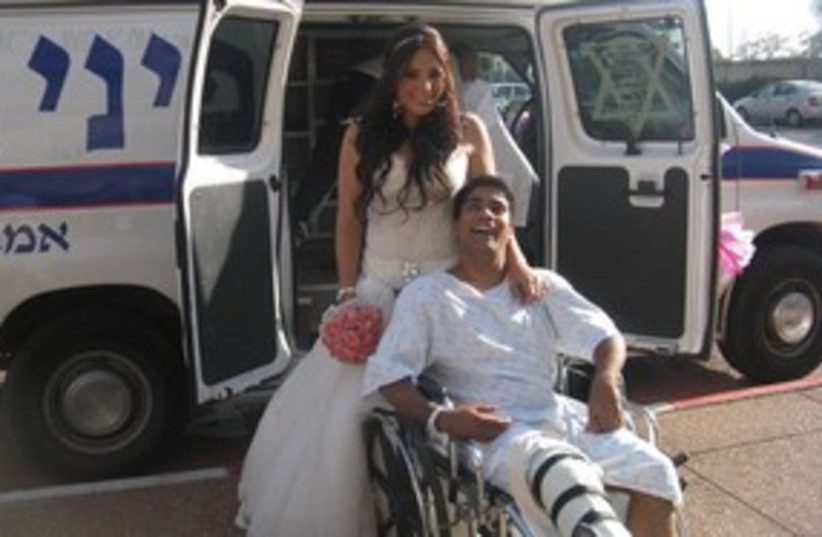 Injured groom and bride 311 (photo credit: Courtesy)