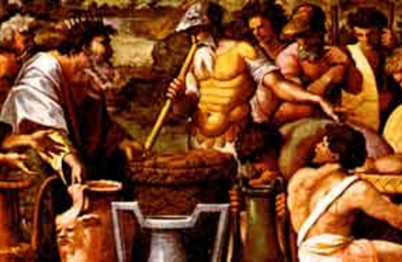 311_Abraham meets Melchizedek (photo credit: Loggia di Raffaello)