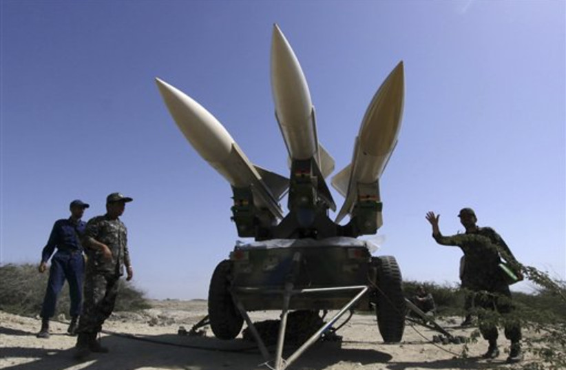 Iran war games (photo credit: AP)