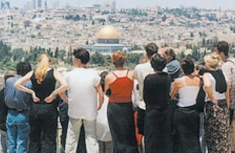 tourists jlem 224.88 (photo credit: Ariel Jerozolimski [file])