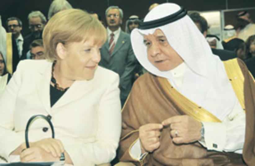 MerkelandSaudiMinister311 (photo credit: Associated Press)