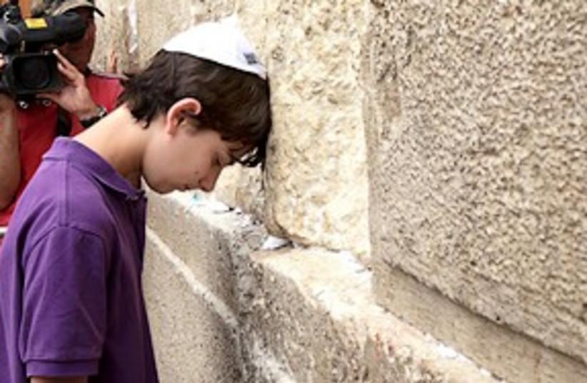 Zach Emanuel W Wall 311 (photo credit: Ariel Jerozolimski)