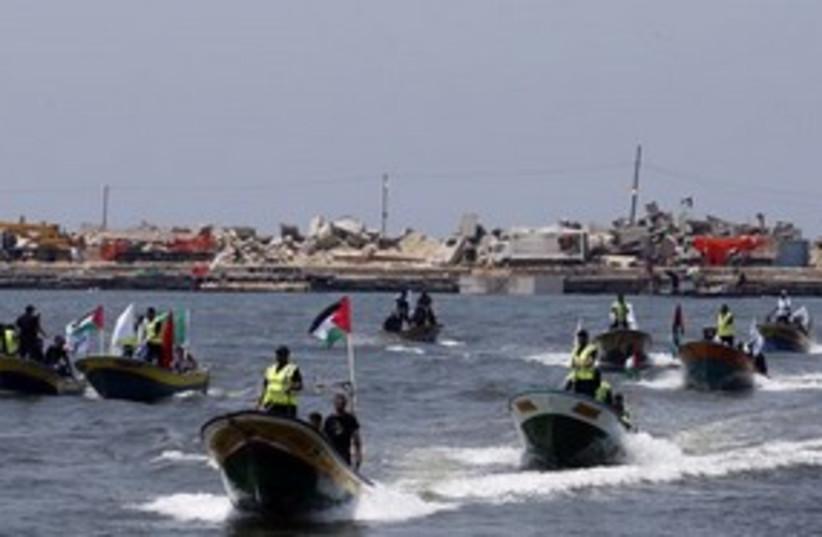 311 Palestinian boats (photo credit: ASSOCIATED PRESS)