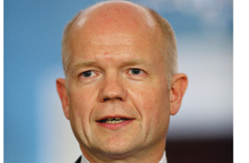 William Hague with white sides 311 (photo credit: Associated Press)