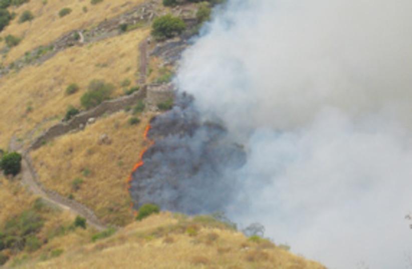 Fire in Gamla 311 (photo credit: Osnat Eitan)